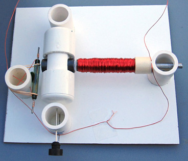 Motor, assembled from the kit
