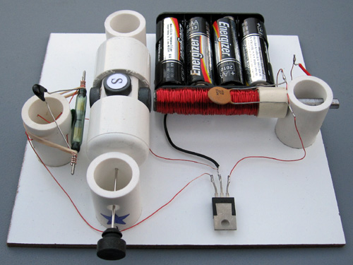 Reed Switch Motor With Transistor Simple Electric Motors